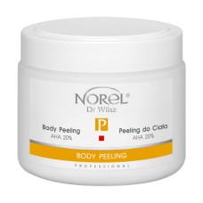 Пилинг для тела, в виде гелеобразной эмульсии, содержит 20% молочную кислоту, рH 4,5