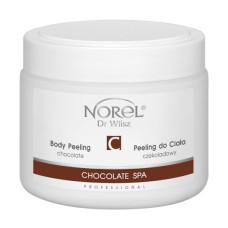 Гелеобразный шоколадный скраб для тела, содержит молотую шелуху какао бобов